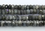 CRB5622 15.5 inches 7*11mm – 8*12mm faceted rondelle labradorite beads