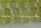 CRB576 15.5 inches 8*16mm faceted rondelle lemon quartz beads