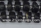 CRB631 15.5 inches 5*8mm tyre charoite gemstone beads