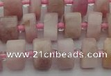 CRB652 15.5 inches 6*10mm tyre pink kunzite gemstone beads