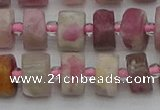 CRB658 15.5 inches 6*10mm tyre pink tourmaline gemstone beads