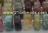 CRB674 15.5 inches 7*14mm tyre mixed gemstone beads wholesale