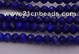 CRB701 15.5 inches 2*3mm faceted rondelle lapis lazuli beads