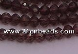 CRB720 15.5 inches 3*4mm faceted rondelle smoky quartz beads