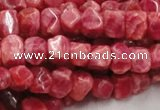 CRC06 16 inches 8*10mm nugget rhodochrosite gemstone beads wholesale