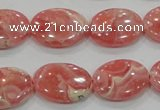 CRC107 15.5 inches 15*20mm oval natural argentina rhodochrosite beads