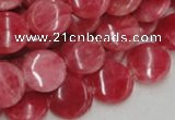 CRC11 16 inches 12mm coin rhodochrosite gemstone beads wholesale