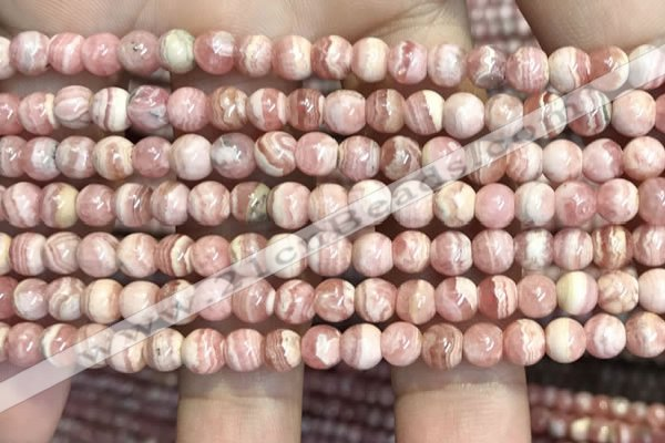 CRC1156 15.5 inches 5mm round rhodochrosite gemstone beads