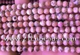 CRC1171 15.5 inches 6mm faceted round rhodochrosite gemstone beads