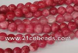 CRC18 15.5 inches 6mm round dyed rhodochrosite gemstone beads
