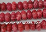 CRC21 15.5 inches 7*11mm rondelle dyed rhodochrosite gemstone beads