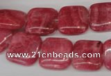 CRC28 15.5 inches 14*14mm square dyed rhodochrosite gemstone beads