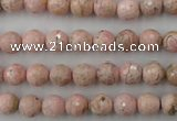 CRC451 15.5 inches 6mm faceted round Argentina rhodochrosite beads