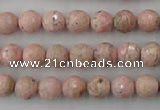 CRC452 15.5 inches 8mm faceted round Argentina rhodochrosite beads