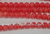 CRC501 15.5 inches 6mm round synthetic rhodochrosite beads