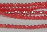 CRC510 15.5 inches 4mm faceted round synthetic rhodochrosite beads