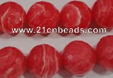 CRC516 15.5 inches 16mm faceted round synthetic rhodochrosite beads