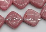 CRC685 15.5 inches 18*18mm diamond rhodochrosite beads wholesale
