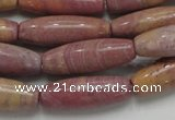 CRC69 15.5 inches 10*30mm rice rhodochrosite gemstone beads