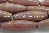 CRC70 15.5 inches 12*40mm rice rhodochrosite gemstone beads
