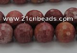 CRC805 15.5 inches 14mm faceted round Brazilian rhodochrosite beads