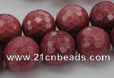 CRC806 15.5 inches 16mm faceted round Brazilian rhodochrosite beads