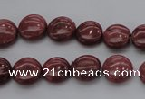 CRC813 15.5 inches 10mm flat round Brazilian rhodochrosite beads