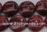CRC819 15.5 inches 25mm flat round Brazilian rhodochrosite beads