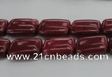 CRC821 15.5 inches 10*14mm rectangle Brazilian rhodochrosite beads