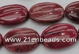 CRC835 15.5 inches 18*25mm oval Brazilian rhodochrosite beads