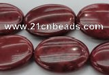 CRC836 15.5 inches 22*30mm oval Brazilian rhodochrosite beads