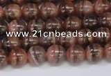 CRC914 15.5 inches 7mm round natural rhodochrosite beads