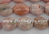 CRC930 15.5 inches 8*12mm oval natural rhodochrosite beads