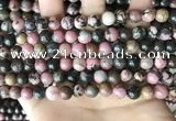 CRD352 15.5 inches 8mm round rhodonite beads wholesale