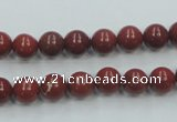 CRE01 16 inches 8mm round natural red jasper beads wholesale