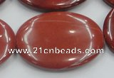 CRE14 16 inches 30*40mm oval natural red jasper beads wholesale