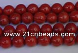 CRE310 15.5 inches 4mm round red jasper beads wholesale