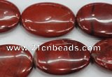 CRE51 15.5 inches 22*30mm oval red jasper beads wholesale