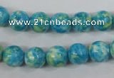CRF103 15.5 inches 10mm round dyed rain flower stone beads wholesale
