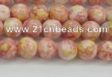 CRF315 15.5 inches 6mm round dyed rain flower stone beads wholesale
