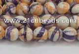 CRF411 15.5 inches 6mm round dyed rain flower stone beads wholesale