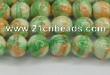 CRF418 15.5 inches 8mm round dyed rain flower stone beads wholesale