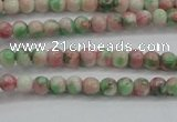 CRF449 15.5 inches 3mm round dyed rain flower stone beads wholesale