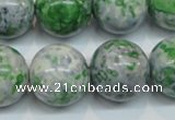 CRF49 15.5 inches 18mm round dyed rain flower stone beads wholesale