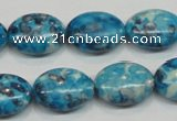 CRF71 15.5 inches 13*18mm oval dyed rain flower stone beads wholesale