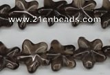 CRG16 15.5 inches 16*16mm star smoky quartz gemstone beads