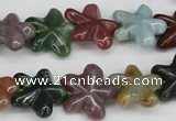 CRG24 15.5 inches 16*16mm star Indian agate gemstone beads wholesale