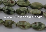 CRH136 15.5 inches 6*12mm marquise rhyolite gemstone beads
