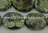 CRH149 15.5 inches 20*26mm freeform rhyolite gemstone beads