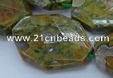 CRH153 15.5 inches 28*40mm - 30*45mm faceted freeform rhyolite beads